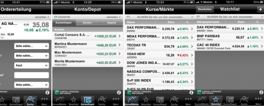 Cortal Consors application bourse iphone android