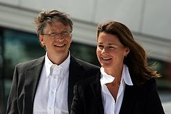 Melinda et Bill Gates